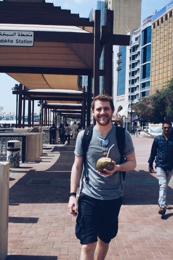 My man and his coconut
