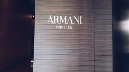 Through the Armani Hotel